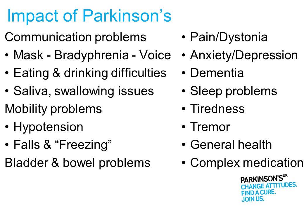 Impact of Parkinson's Communication problems