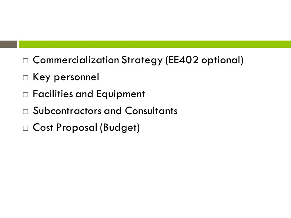 Commercialization Strategy (EE402 optional)