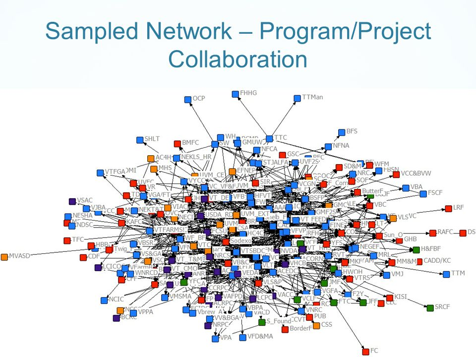 Sampled Network – Program/Project Collaboration