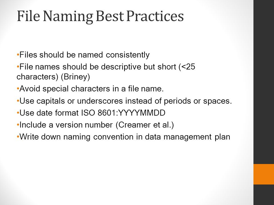 File Naming Best Practices