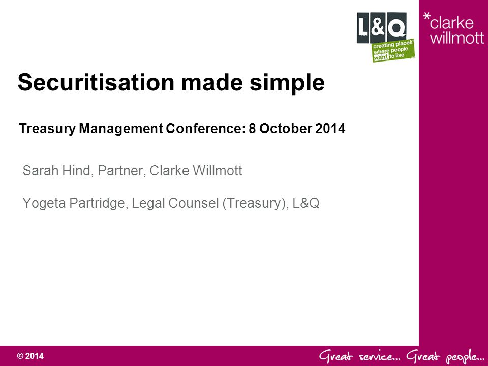 Securitisation made simple