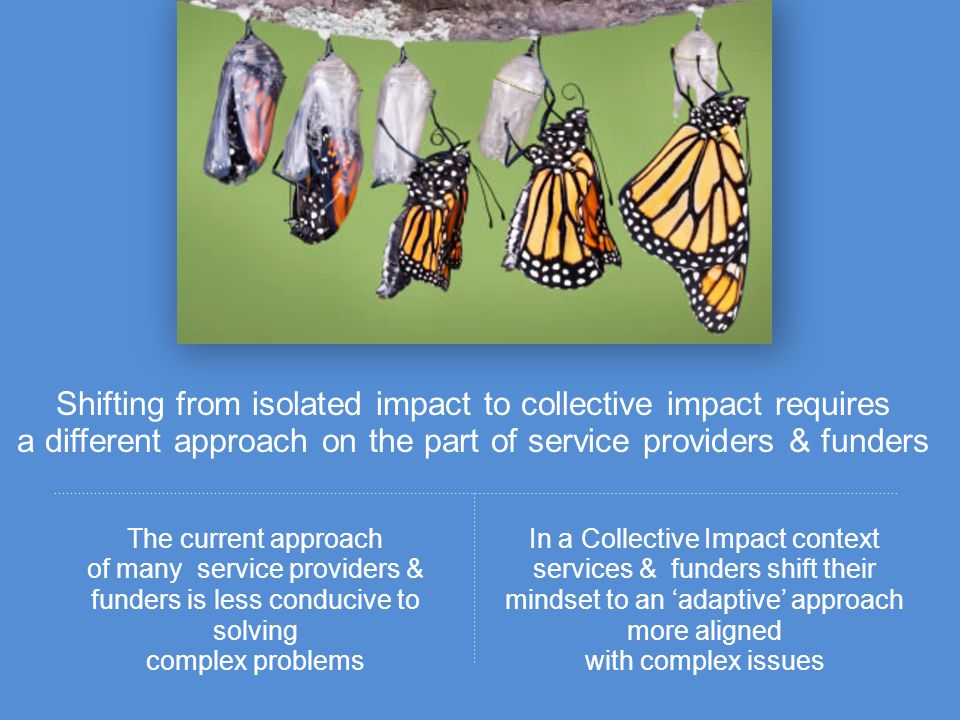 Shifting from isolated impact to collective impact requires a different approach on the part of service providers & funders