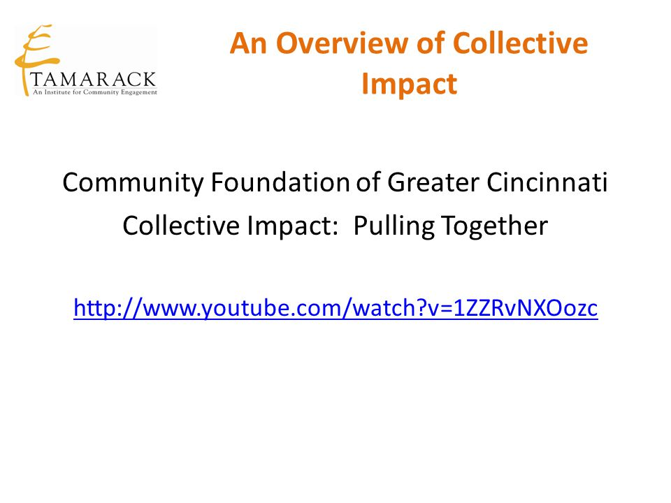 An Overview of Collective Impact