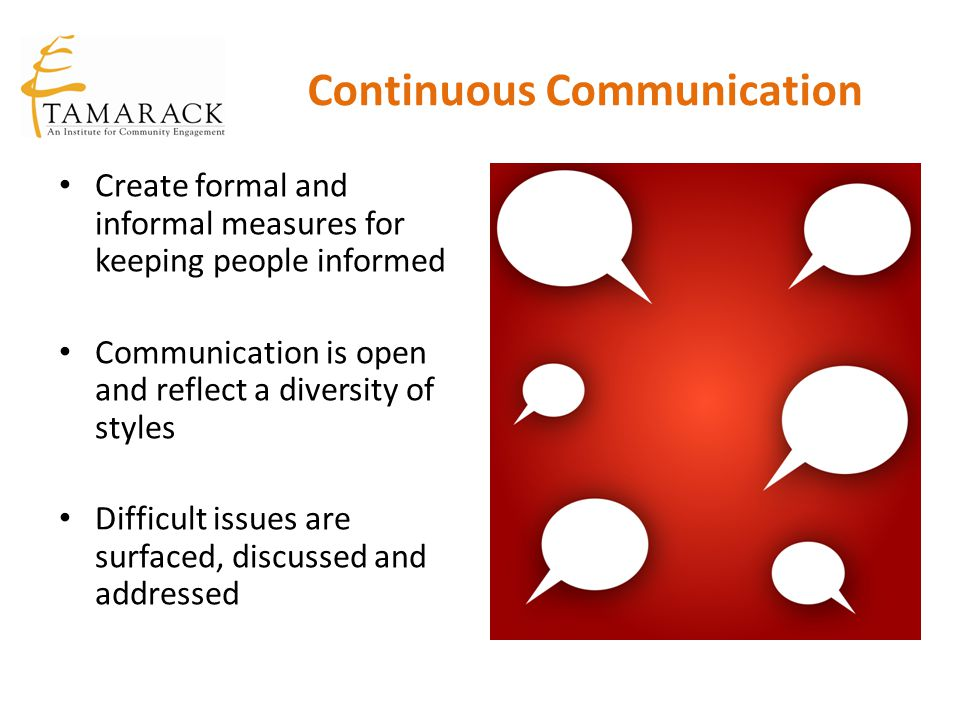 Continuous Communication