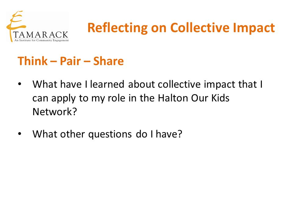 Reflecting on Collective Impact