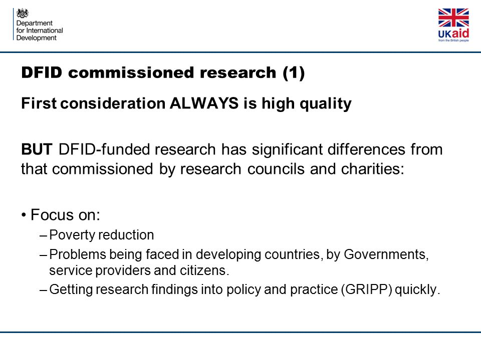 DFID commissioned research (1)
