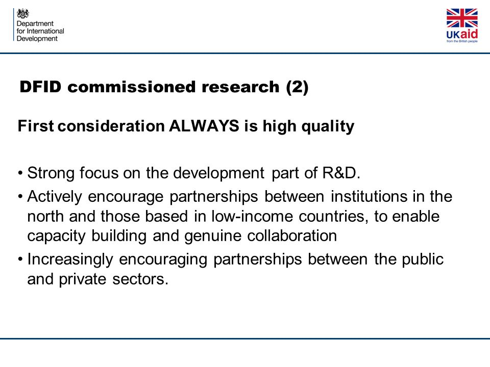 DFID commissioned research (2)