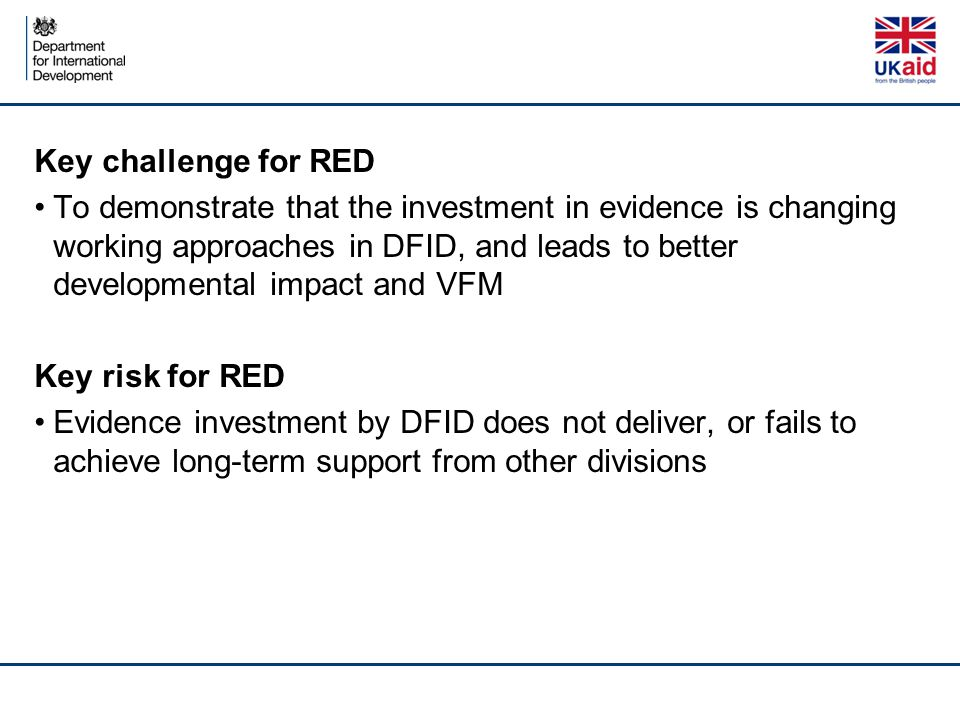 Key challenge for RED