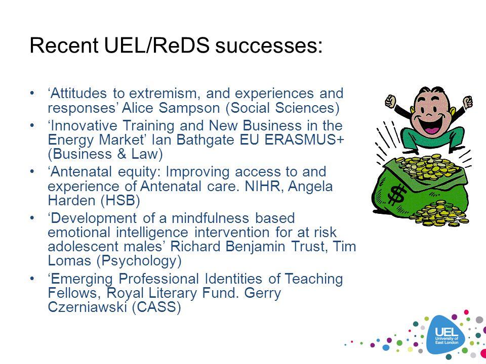 Recent UEL/ReDS successes: