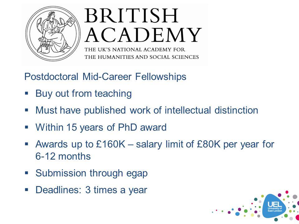 Postdoctoral Mid-Career Fellowships