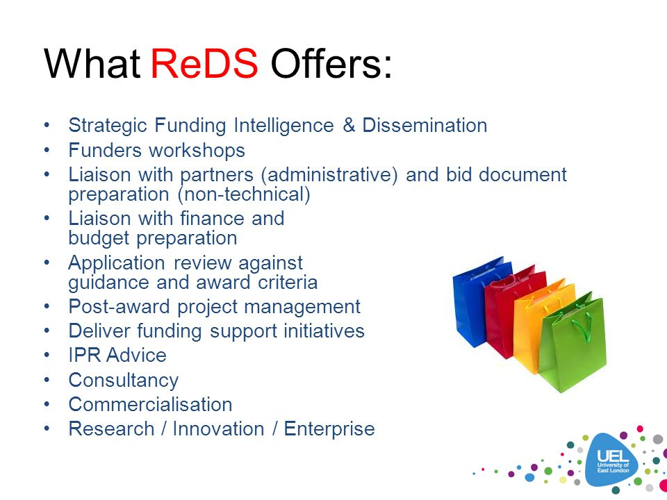 What ReDS Offers: Strategic Funding Intelligence & Dissemination