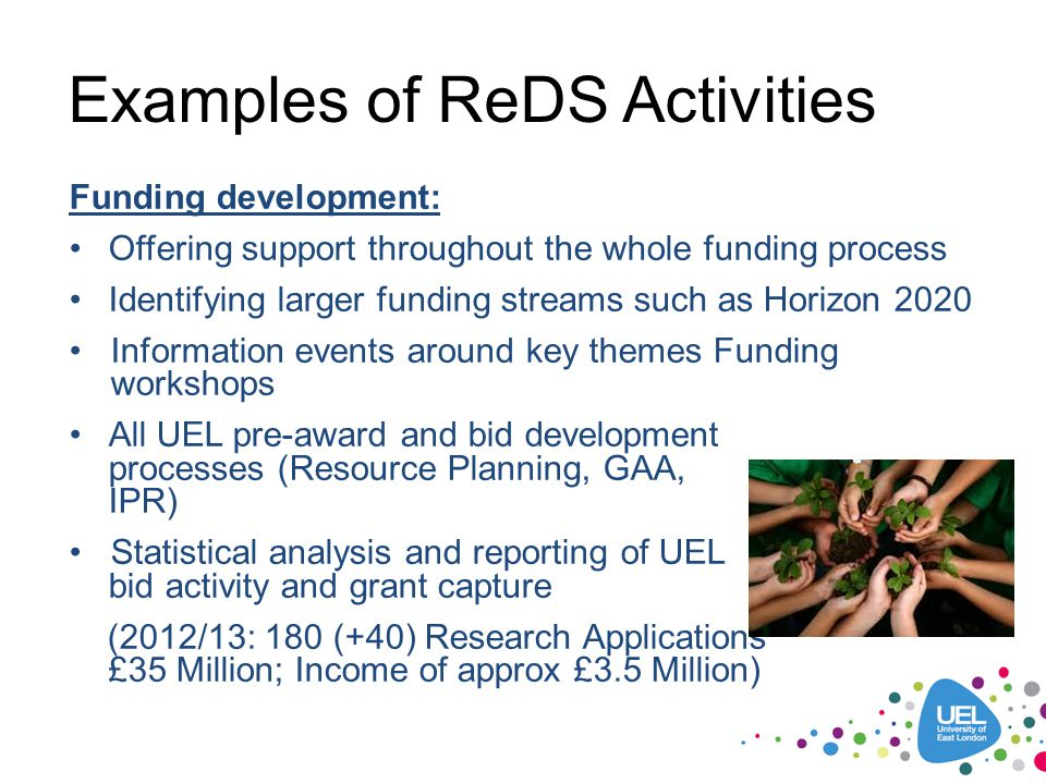 Examples of ReDS Activities