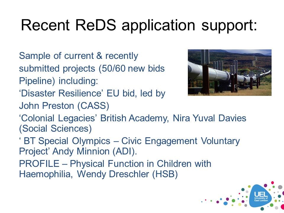 Recent ReDS application support: