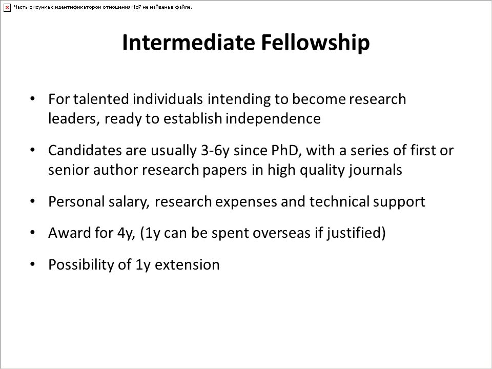 Intermediate Fellowship