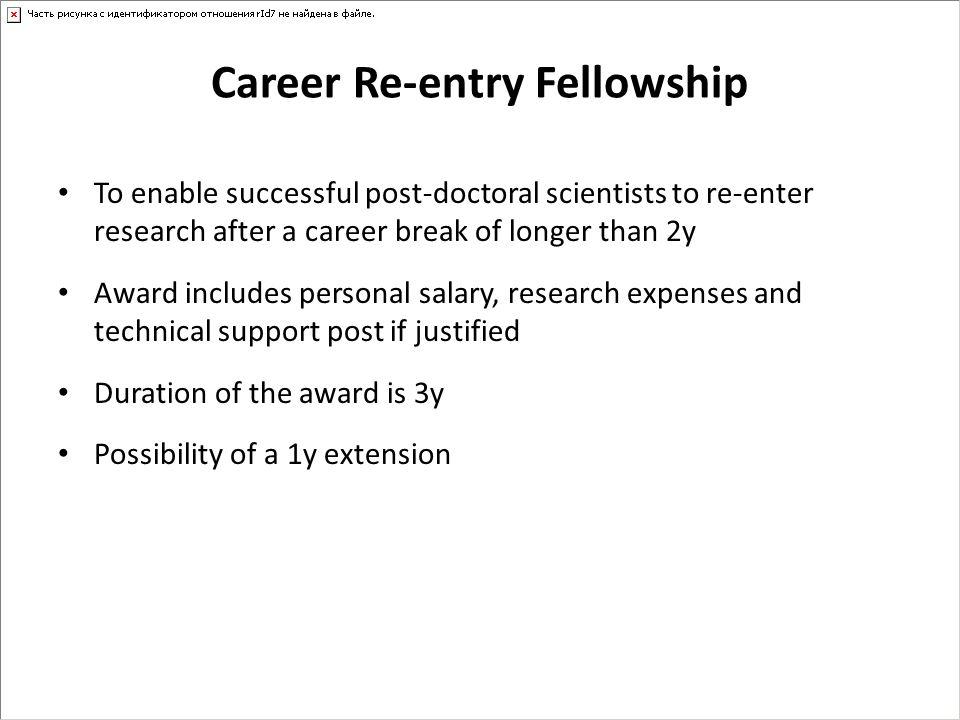 Career Re-entry Fellowship