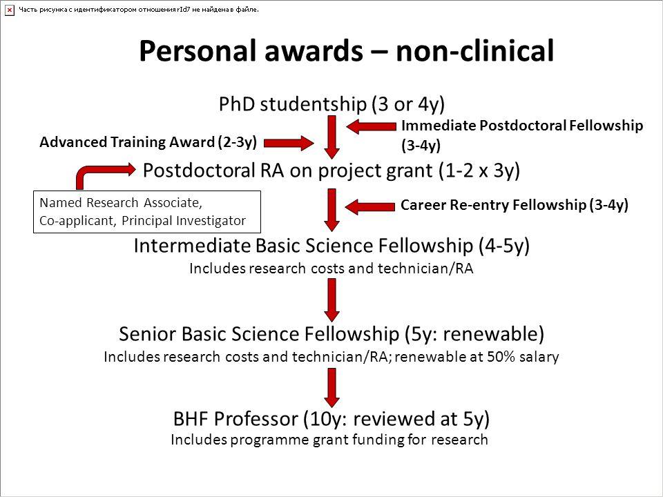 Personal awards – non-clinical