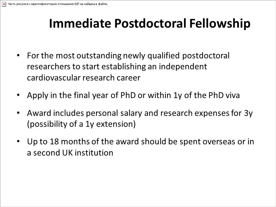 Immediate Postdoctoral Fellowship