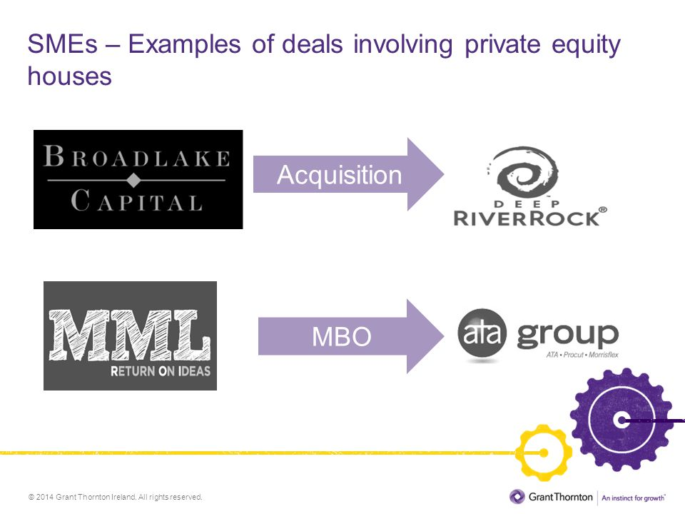 SMEs – Examples of deals involving private equity houses