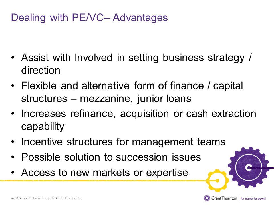 Dealing with PE/VC– Advantages