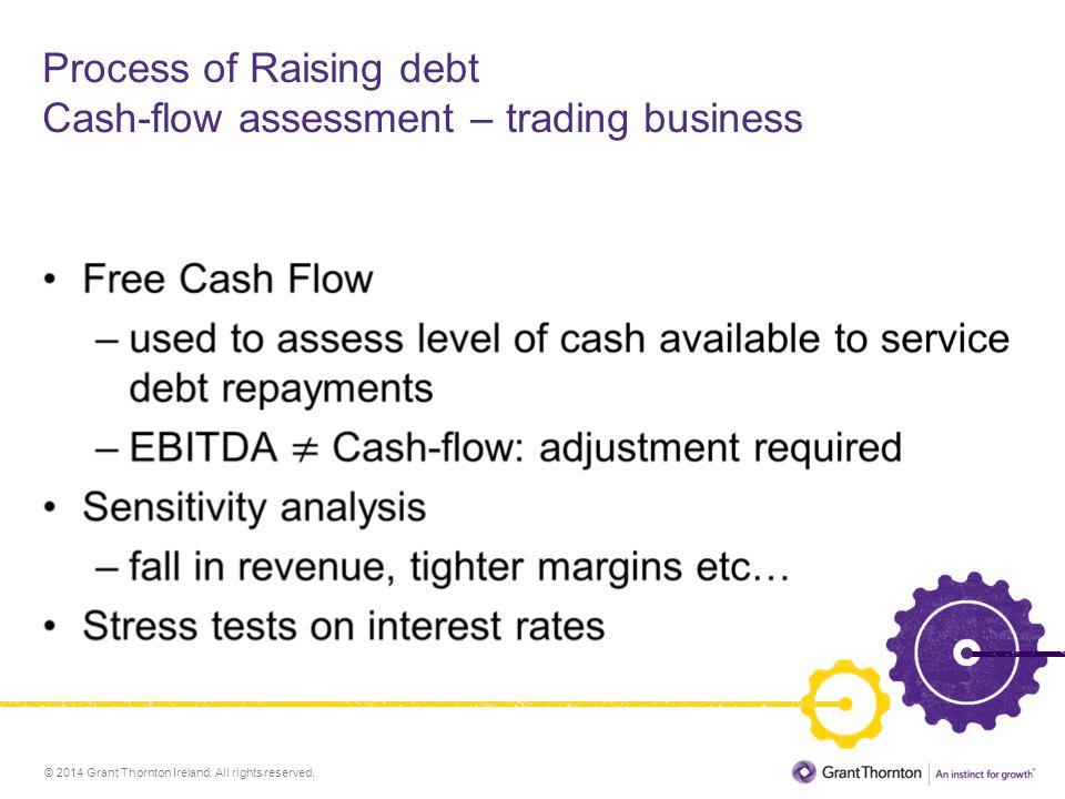 Process of Raising debt Cash-flow assessment – trading business