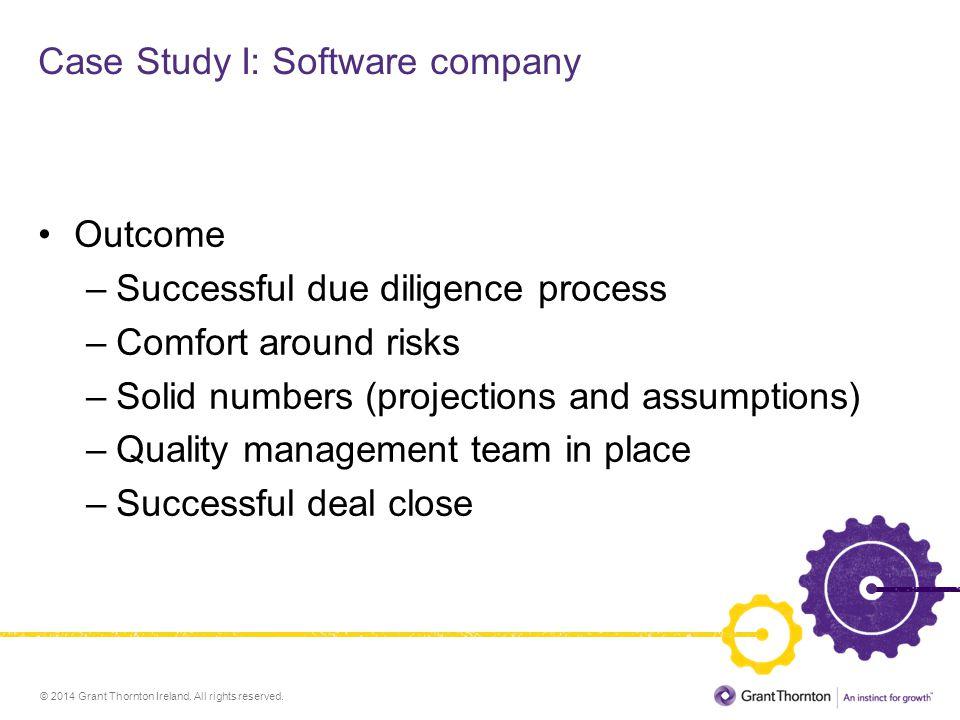 Case Study I: Software company