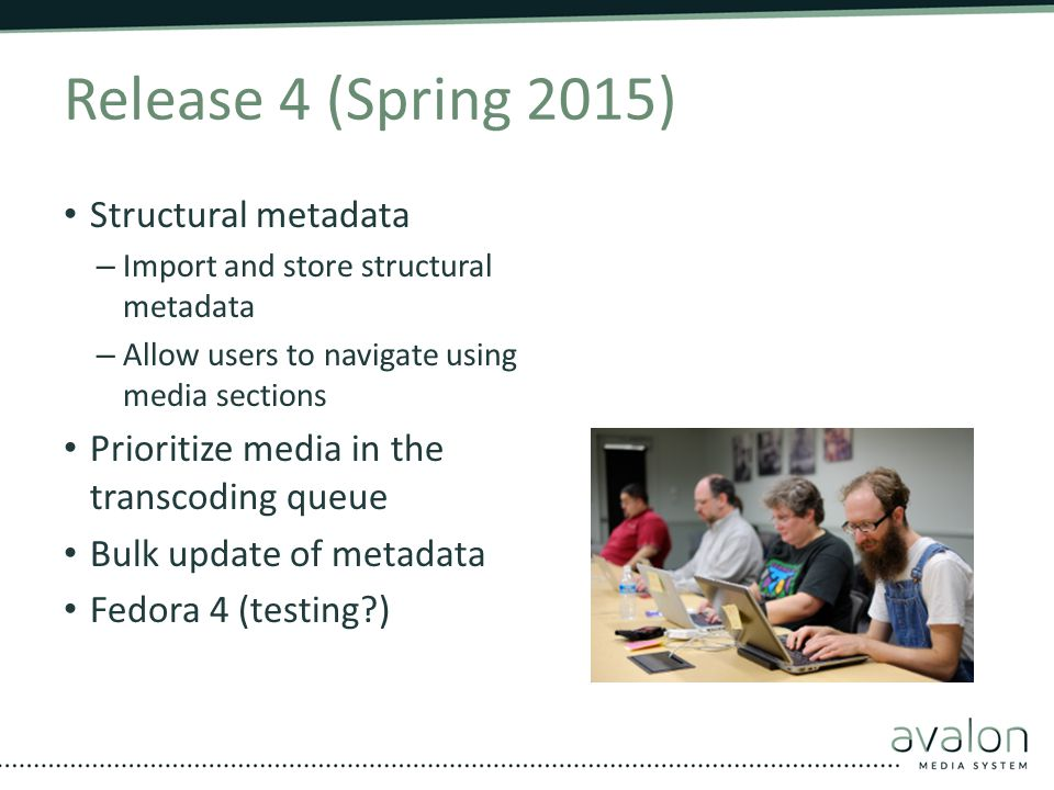Release 4 (Spring 2015) Structural metadata