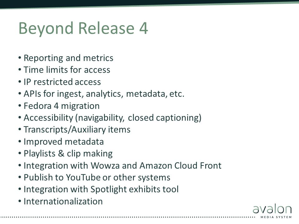 Beyond Release 4 Reporting and metrics Time limits for access