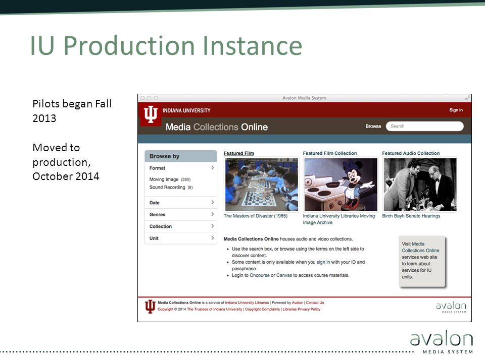 IU Production Instance