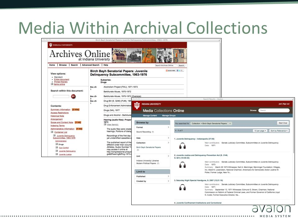 Media Within Archival Collections