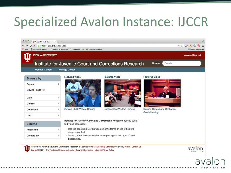 Specialized Avalon Instance: IJCCR