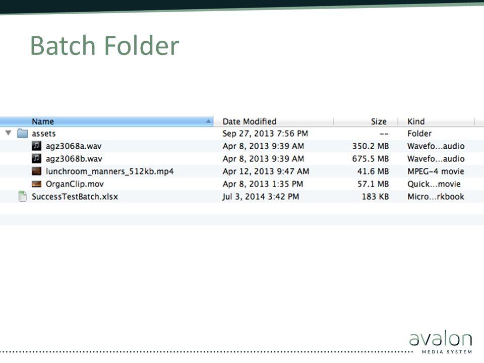 Batch Folder