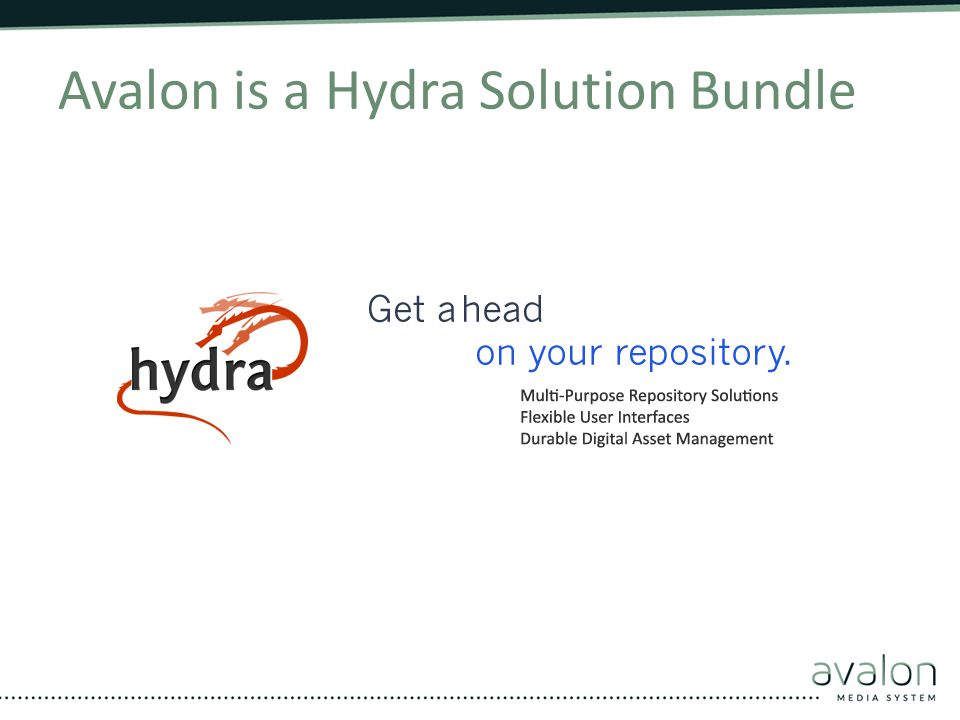 Avalon is a Hydra Solution Bundle