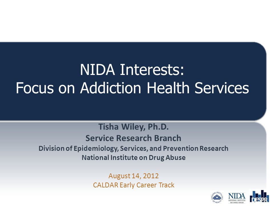 NIDA Interests: Focus on Addiction Health Services