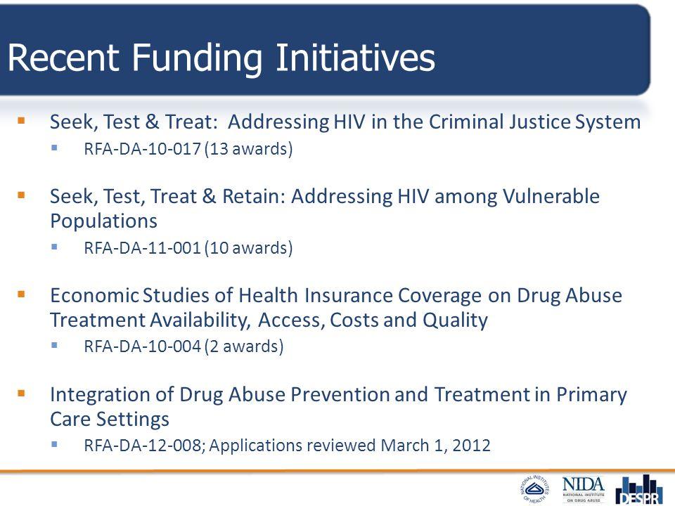 Recent Funding Initiatives