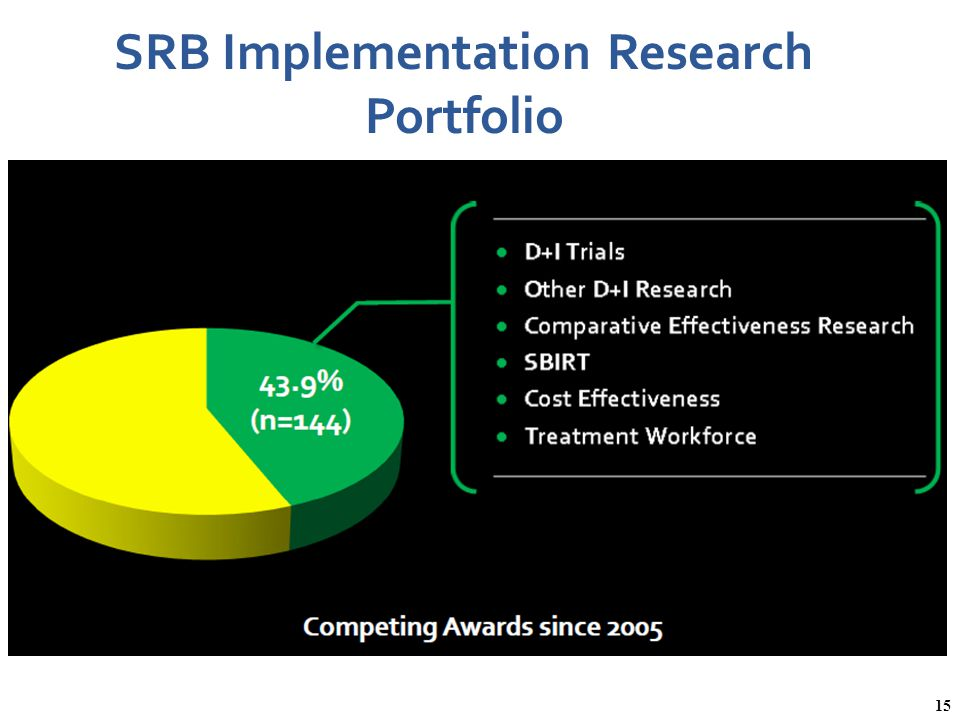 SRB Implementation Research Portfolio