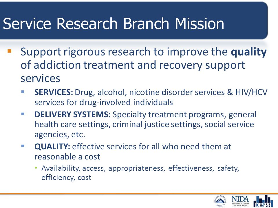 Service Research Branch Mission