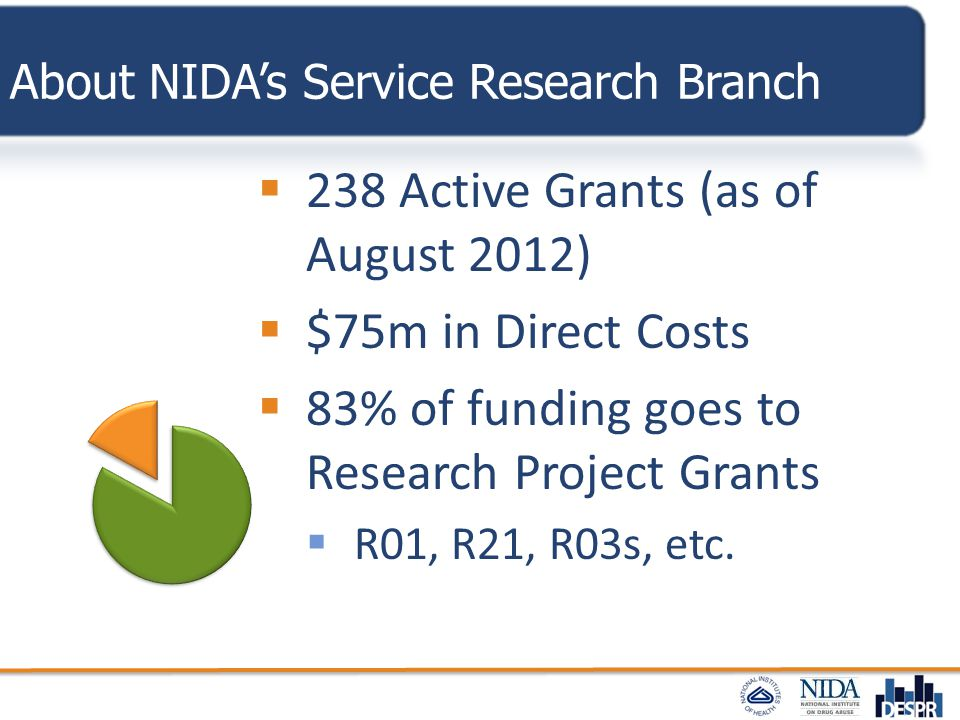 About NIDA's Service Research Branch