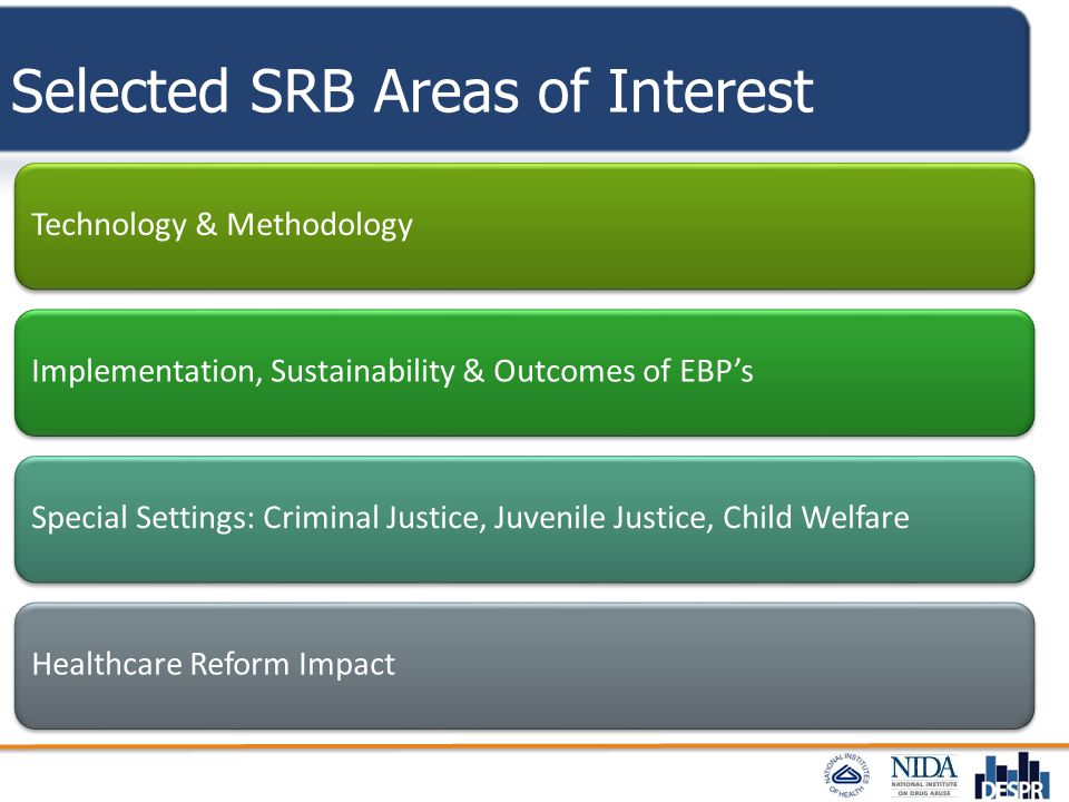Selected SRB Areas of Interest