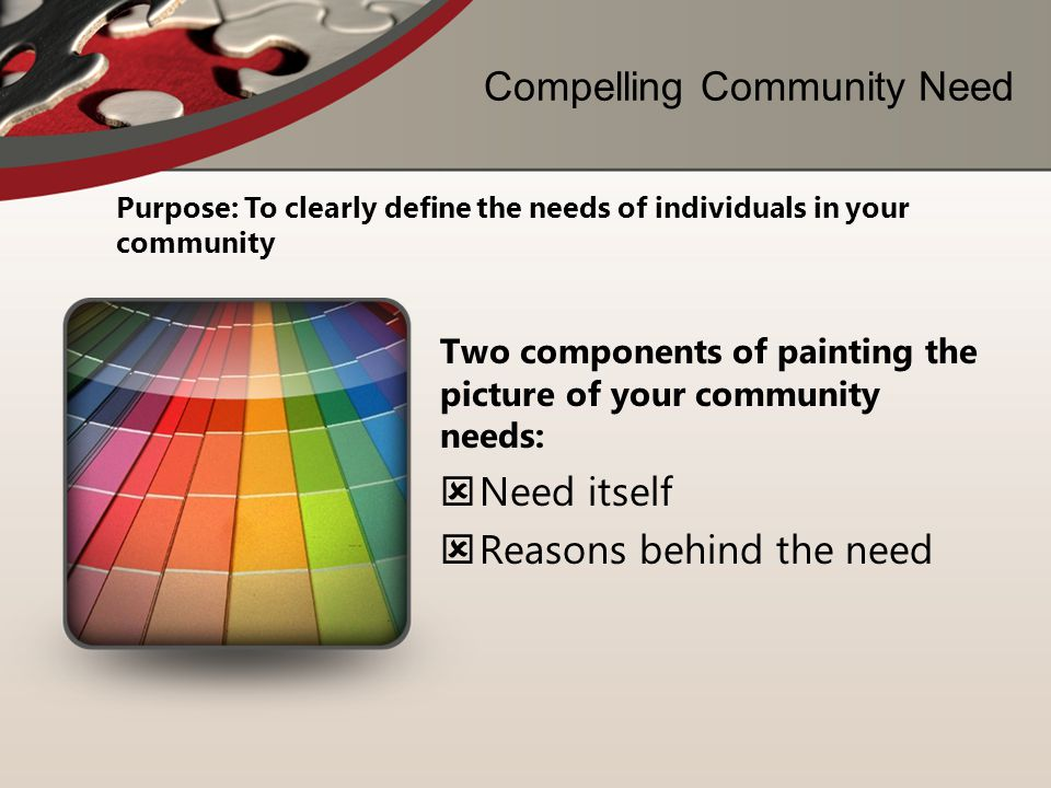 Compelling Community Need