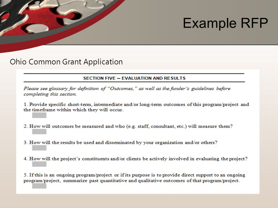 Example RFP Ohio Common Grant Application