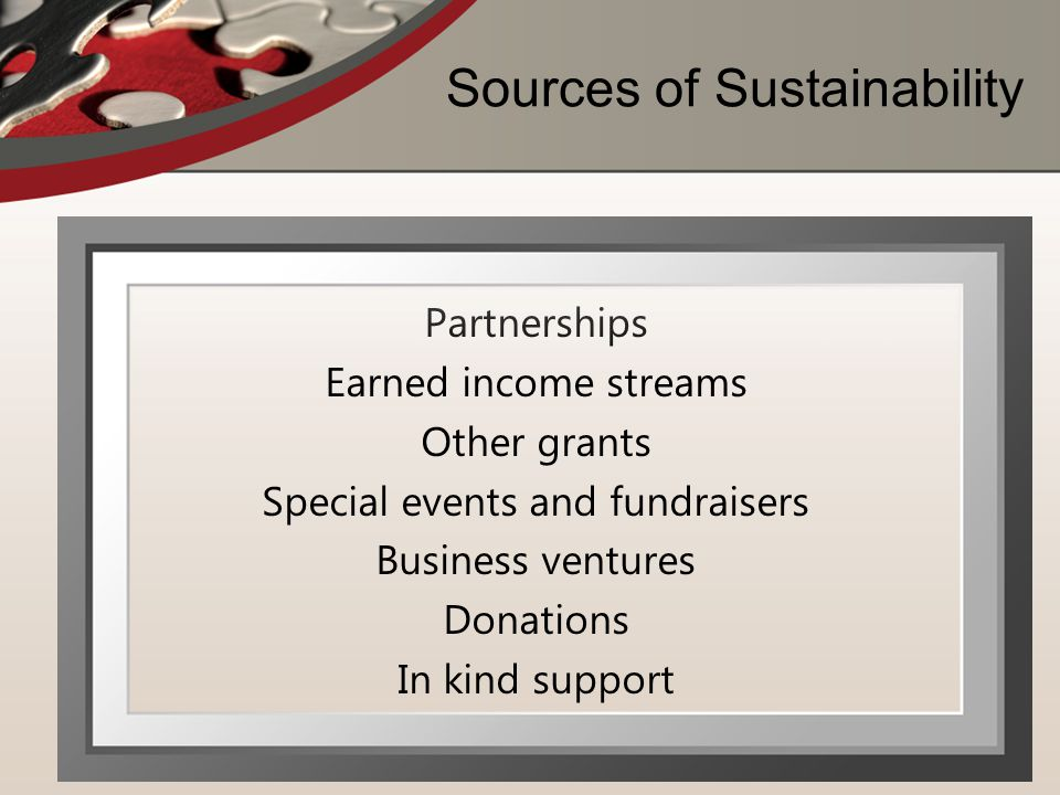 Sources of Sustainability