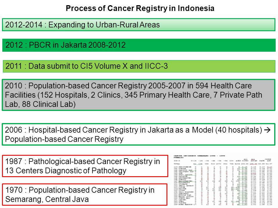 Process of Cancer Registry in Indonesia