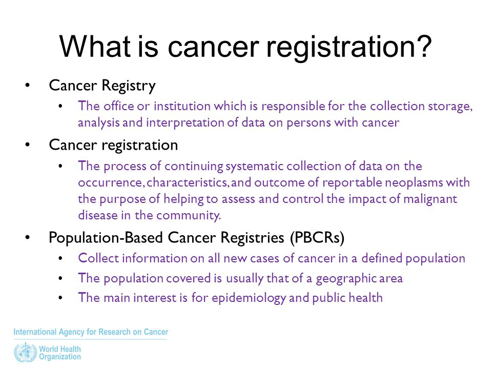 What is cancer registration