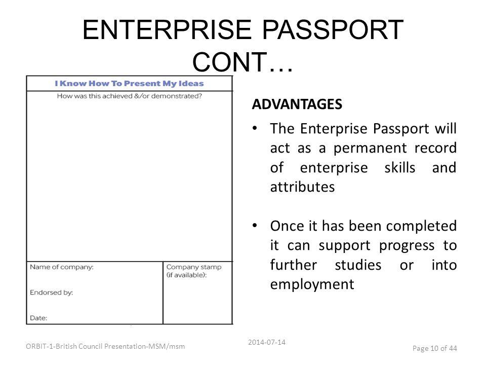 ENTERPRISE PASSPORT CONT…