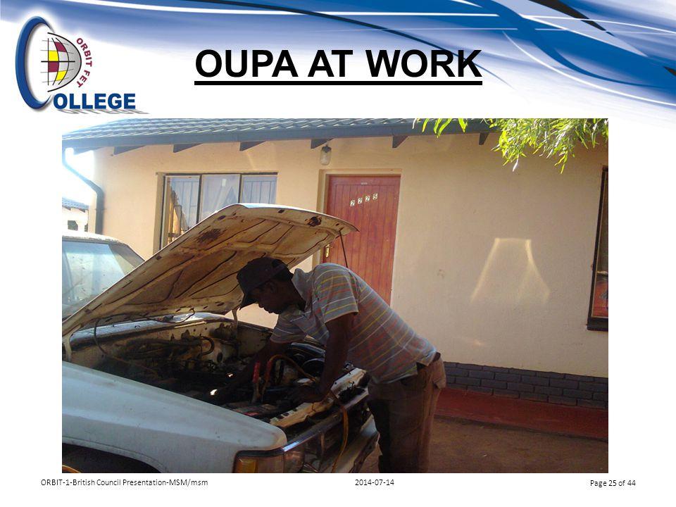 OUPA AT WORK ORBIT-1-British Council Presentation-MSM/msm 2014-07-14