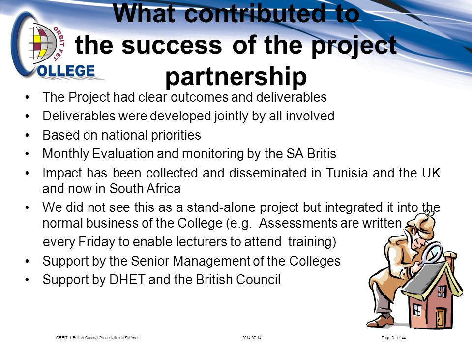What contributed to the success of the project partnership