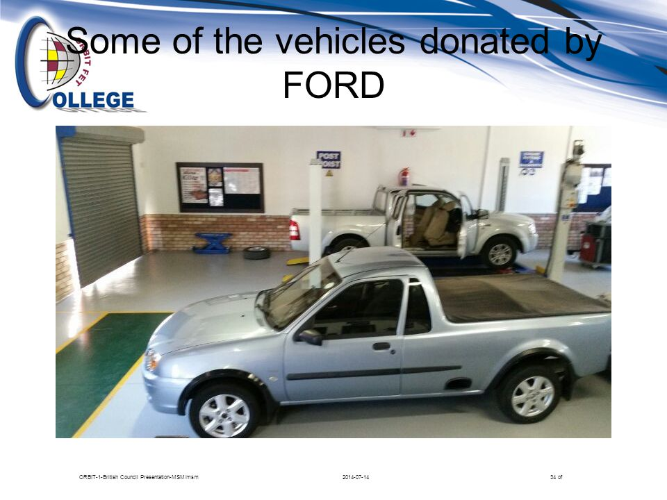 Some of the vehicles donated by FORD