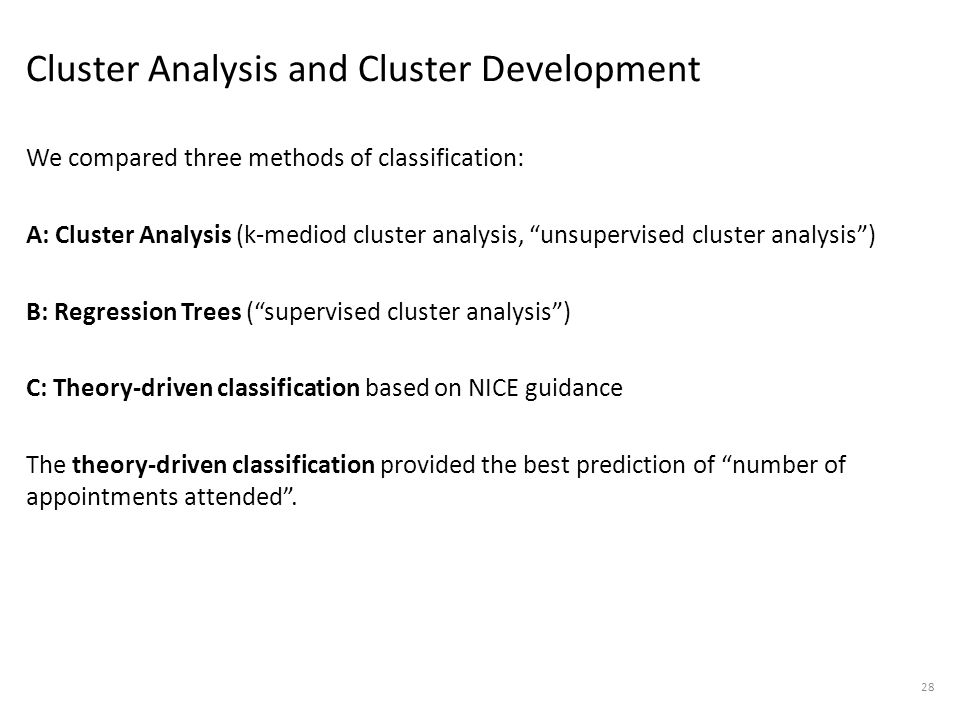 Cluster Analysis and Cluster Development