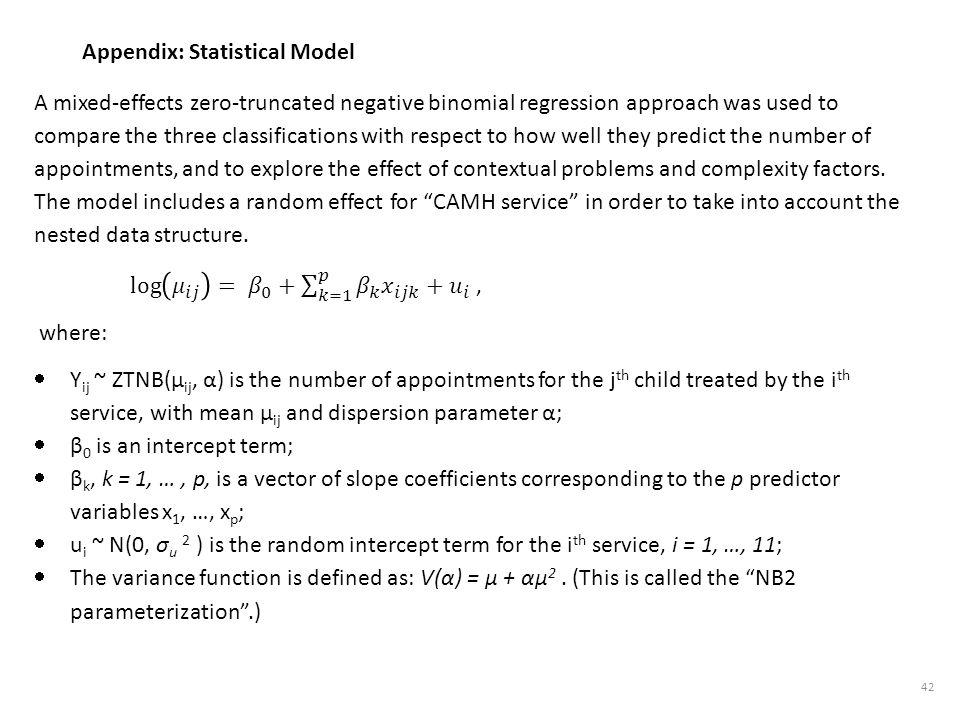 Appendix: Statistical Model