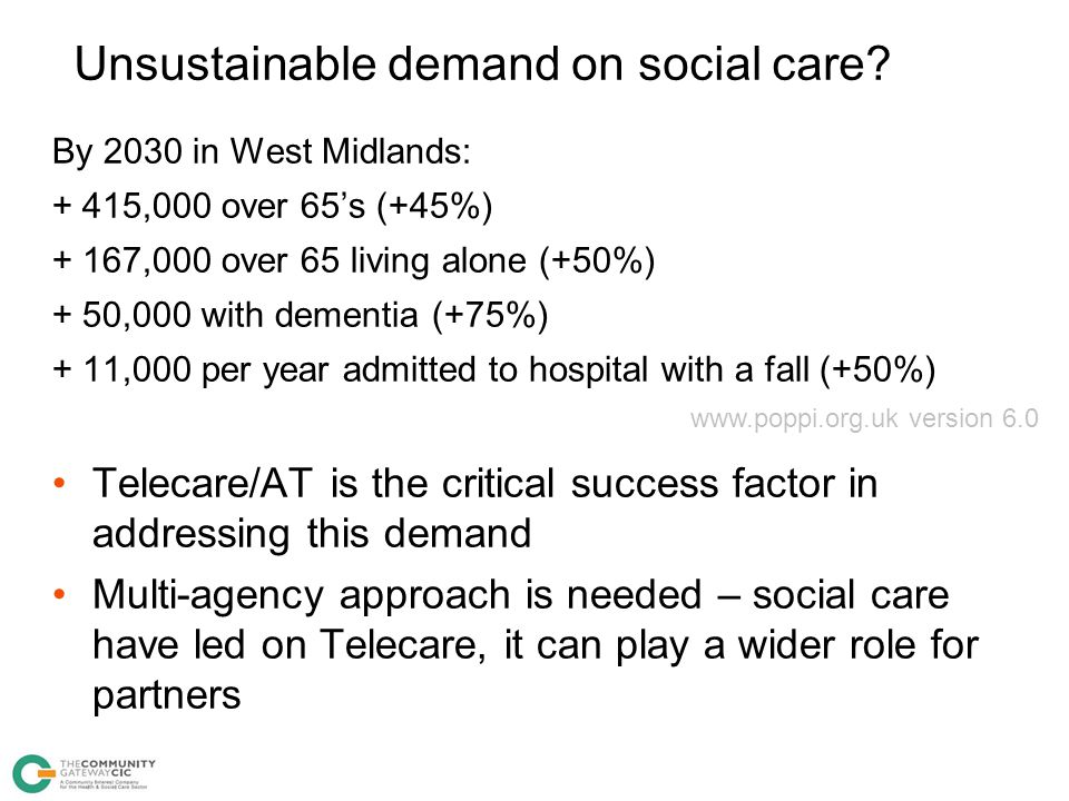 Unsustainable demand on social care
